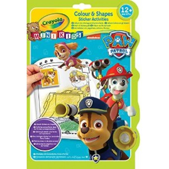 Paw Patrol Colour and Shapes Activity Book