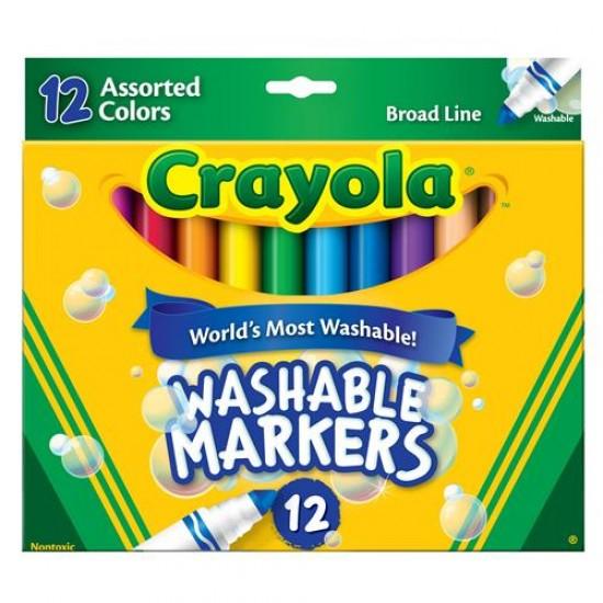 Washable Broadline Markers X 12 -Crayola