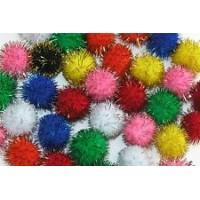 Glitter pompom fur ball