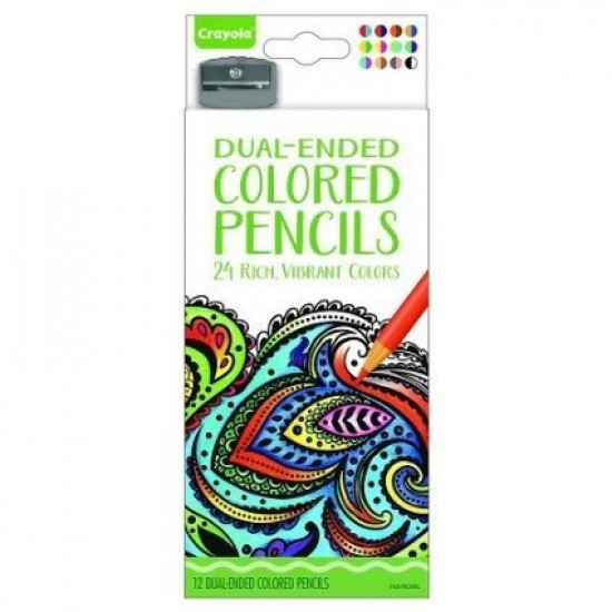 Crayola Aged Up Adult Dual Ended Pencils x12