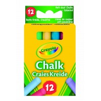 Anti Dust Chalk Coloured X 12