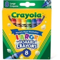 Crayola Big Washable Crayons, 8-Pack: