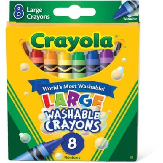 Crayola Big Washable Crayons, 8-Pack: