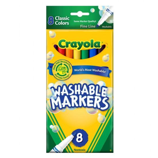 Washable Fineline Marker X 8- Crayola