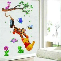 Bear and Tigger removable wall décor Sticker  for children's room