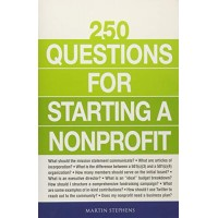 250 Questions for Starting a Nonprofit by Stephens, Martin-Paperback