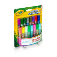 Crayola Washable Glitter Glue, Arts and Crafts Supplies, 16 Glitter Colors