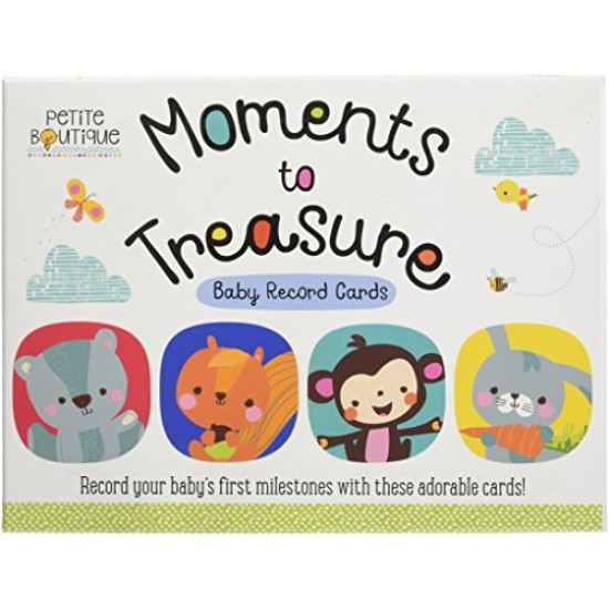 MOMENTS TO TREASURE BABY RECORD CARDS (PETITE BOUTIQUE)- Boxed Set