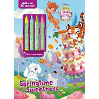 Sprintime Sweetness Coloring Book with Crayons (Disney Whisker Haven Tales with the Palace Pets)