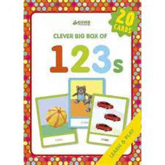123s: Memory Flash Cards (Clever Big Box Of) by Shendrik, Svetlana (Ilt)