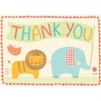 Playful Animals Parcel Thank You Notes- Boxed Set