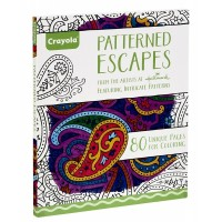 Crayola Patterned Escapes Colouring Book For Adult