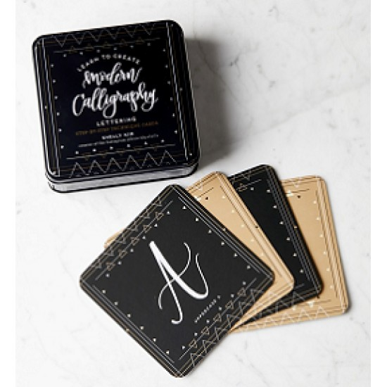 Learn to Create Modern Calligraphy Lettering: Step-By-Step Technique Cards by Kim, Shelly- box set
