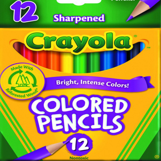 Crayola Colored Pencils Half Length 12 Pack