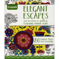 Crayola Elegant Escapes Colouring Book For Adult