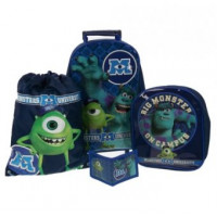 Disney Monsters University Inc Trolley Inc Set