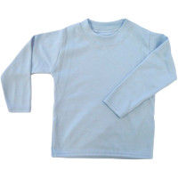 Baby Blue Unbranded Long Sleeve T-Shirt