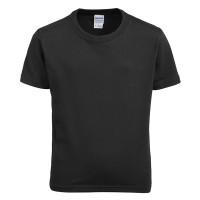 Black Gildan Kids Soft Style Unbranded Short Sleeve T-Shirt