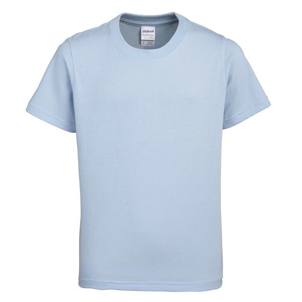 Light Blue Gildan Kids Soft Style Ringspun Short Sleet T-Shirt