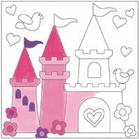 Canvas Paint Set Castle