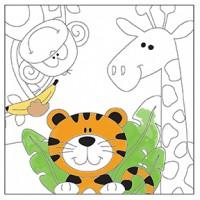 Canvas Paint Set Zoo