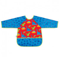 Long Sleeve Craft Aprons- Dino