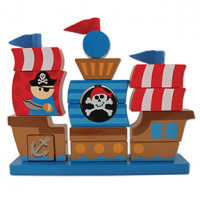 Wood Stacking Play Set Pirate