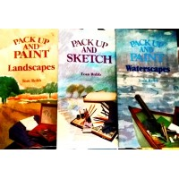 Pack up and Paint , sketch and waterscapes 3 book set