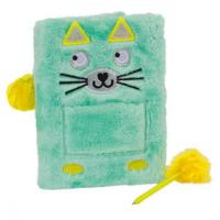 Cat Plush Notebook and Pen